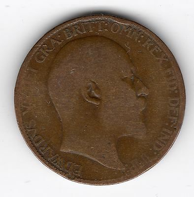 Great Britain Edward VII Half Penny 1/2d 1908 nice coin R37114