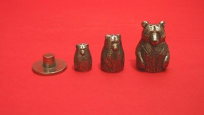 Bear Russian Doll Thimbles Pewter (Stacking Dolls) Collectible Thimbles NEW