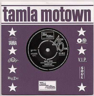Motown 45 Marvin Gaye - Sweet Thing / Tammi Terrell - You Just Can't Win - New