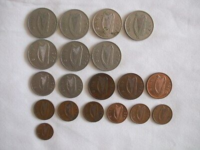 19 Ireland Coins Various Dates & Denominations