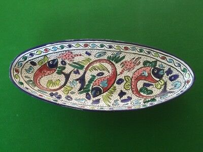 Beautiful Large Piece Of Hand Made Tunisian Pottery