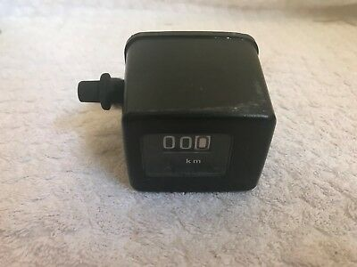 Used Kmh Trip Meter With Mounting Bracket Trail Enduro Bike Cable Operated