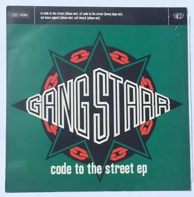 "Gangstarr - Code To The Street EP/ 12""/Dwyck/ Mass Appeal/ Kenny Dope"