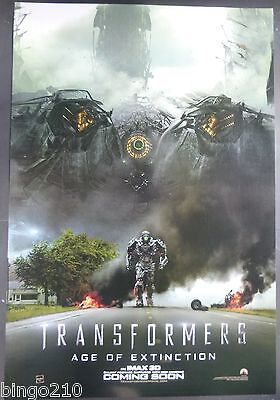 Transformers Age Of Extinction  2014 1 Sheet Poster Mark Wahlberg Michael Bay
