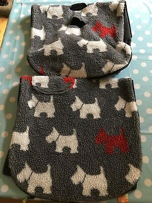 Textured Scottie Dog Charcoal Pushchair / Buggy Footmuff by Buggysnuggle - Used