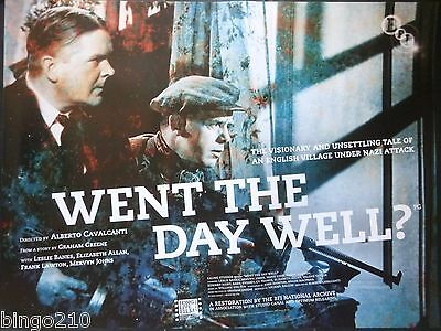 Went The Day Well? Original Cinema Quad Poster 2010 Bfi Re-Release Leslie Banks