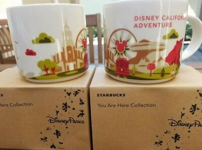 Disneyland California Adventure Park Exclusive You Are Here Starbucks Cup Mug