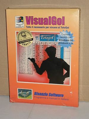 VisualGol - vincere al TotoGol | programma per Windows | Bisanzio Software 1995