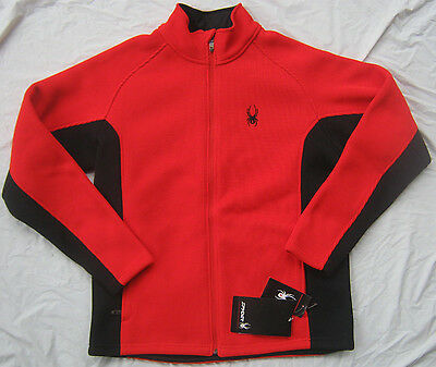 NWT Mens  SPYDER Foremost Full Zip Heavy Weight Sweater Red Size L