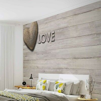 Photo Wallpaper STONE HEART LOVE Wall Mural (3474VE)