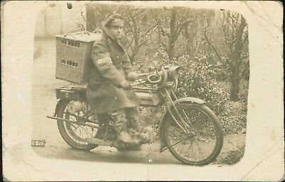 France WW1 Despatch Rider Motorcycle , Basket Carrier Pigeons  Ri.262
