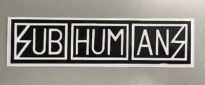 New unused Vinyl Window Sticker subhumans citizen fish punk car 18x4.5cm