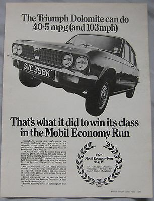 1972 Triumph Dolomite Original advert No.1