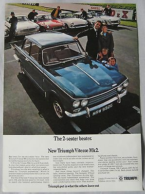 1968 Triumph Vitesse Mk2 Original advert