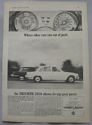 1965 Triumph 2000 Original advert No.1