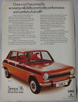 1976 Simca Original advert