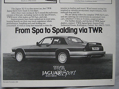 1984 TWR Jaguar Sport XJ-S Original advert