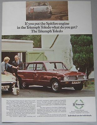 Triumph Toledo Original advert No.1