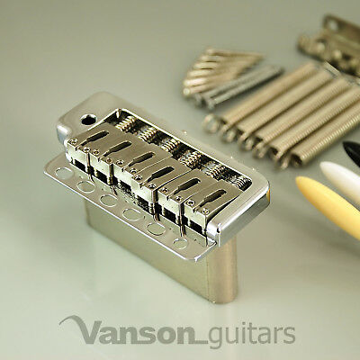 New CUSTOM Wilkinson WVP6 Tremolo with Vanson Block for Strat®, Vintage, WVP6Pro