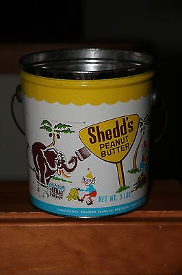Vintage Shedd's Peanut Butter Tin with Handle