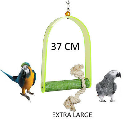 Extra Large 37Cm Acryling Parrot Cage Swing Toy Macaw African Grey Cockatoo 4503