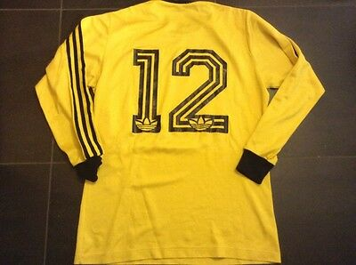 Adidas Football Shirt Vintage Yellow Swiss Trikot Switzerland Jersey Zurich