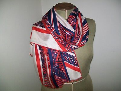 Richard Allan. Smart & Chic Abstract Design Vintage Silk Scarf
