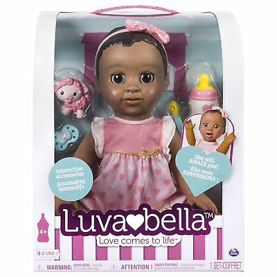 LuvaBella Dark Brown Doll In Hand Ready To Ship