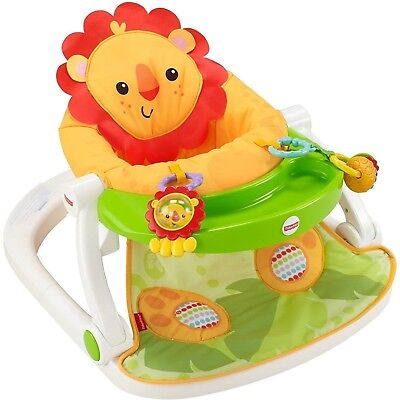 Fisher-Price Sit-Me-Up Floor Seat With Tray - Two Linkable Toys (French Edition)