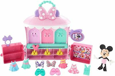 Disney Minnie Mouse Sparkle 'N Spin Fashion Bow - Tique Playset By Fisher-Price
