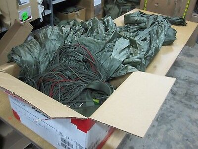 Military Parachute Sf10A Mfg 2005 Lines In Tact 1 Ripped Mesh Panel