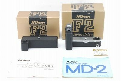 [N MINT in BOX] Nikon MD-2 + MB-1 Motor Drive & Battery Pack Set F2 From Japa