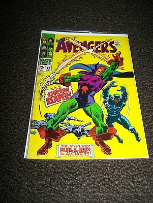 The Avengers #52 (May 1968) 1st app. of the Grim Reaper. Black Panther joins