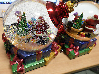 Christmas Santa Snow Globe Water Globe with LED Light & Snow Blower Xmas Gift K2