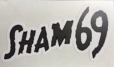 New shaped Vinyl Sticker  sham 69 oi new wave punk skinhead car iPad 13x7cm