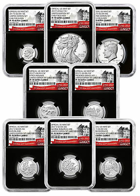 8-Coin 2017-S Limited Edition Silver Proof Set NGC PF70 UC ER Blk 225th SKU49561
