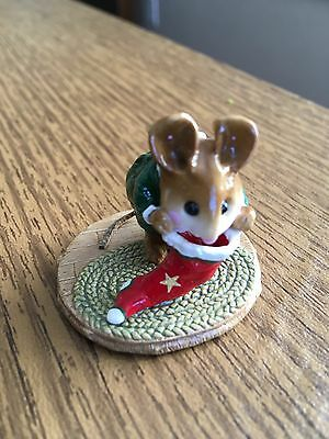 wee Forest Folk M-142 Chris-Mouse Stocking