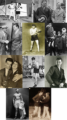 Jack Dempsey Boxing Champion Job Lot Set Of Ten 6 X 4 Vintage Photographs