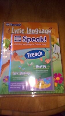 Nib Your Baby Can Speak French! 4 Disc Language Dvd, 72 Stickers & Song Book Set