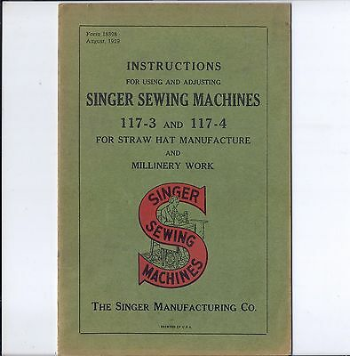 Singer Sewing Instruction Manual for Model 117-3 and 117-4 Machines