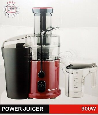 900W Red Whole Fruit Vegetable Citrus Juice Extractor Centrifugal Power Juicer