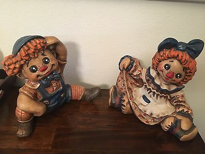 Vintage Raggedy Ann and Andy Large Figure Set