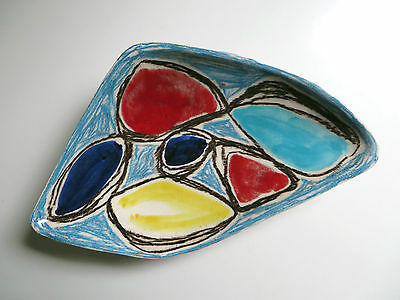 Vintage Marcello Fantoni Mid Century Modern Tri Footed Bowl Dish Signed 1950's