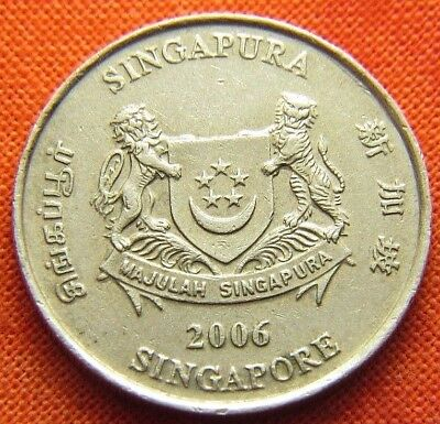 2006 Singapore Twenty Cent Coin Km# 101 (Wc0027)