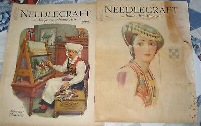 Antique Needlecraft Home Arts Magazine June 1930 and March 1932