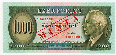 Hungary Pick 176bs 1000 Forint Minta / Specimen banknote1993 in UNC condition