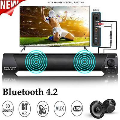 TV Home Theater Bluetooth 4.2 Speaker Wireless Stereo Sound Bar System Subwoofer