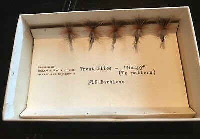 "Vintage Helen Shaw  "" Humpy"" Flies in original box"