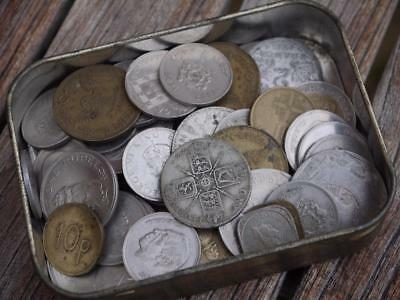 Interesting Collection Of Old Word-Wide Coins 1922 Silver Florin Noted