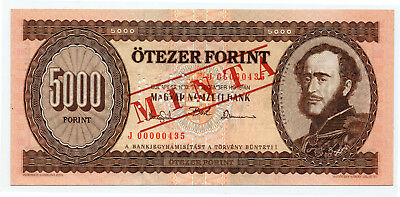 Hungary Pick 177cs 5000 Forint Minta / Specimen banknote 1993 in UNC condition